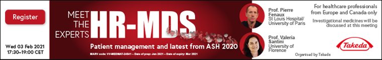 HR-MDS: patient management and latest from ASH 2020